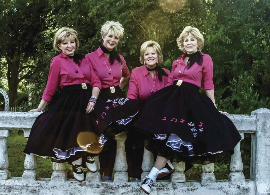Shake, Rattle, and Roll, an all girls' doo-wop quartet, will perform and provide backup harmony for an Elvis Presley tribute show October 6 in Humble. Call 832-312-0074 for tickets at $35 each.