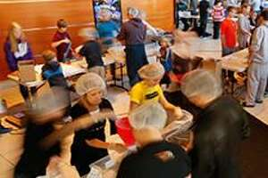 The public is invited to help assemble 10,000 or more meals Oct. 6.