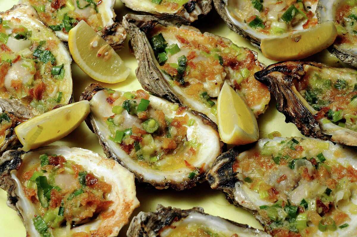 Grilled oysters Vietnam style at Cajun Kitchen