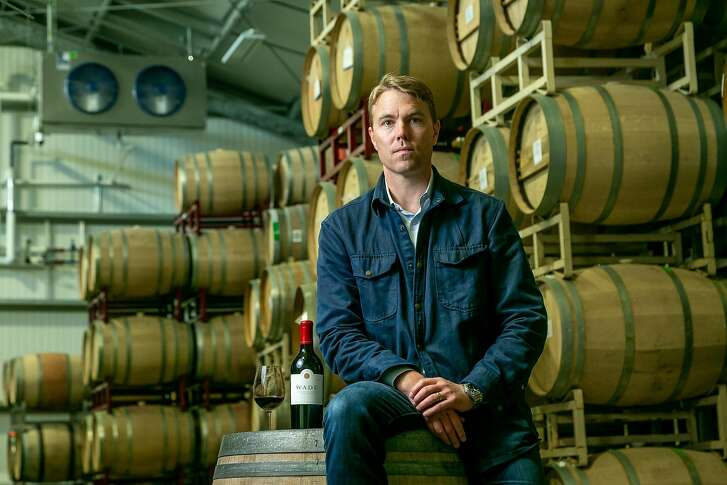Jamie Watson of D. Wade cellars at their custom crush facility in Sonoma, Calif. on Sept. 20th, 2018.