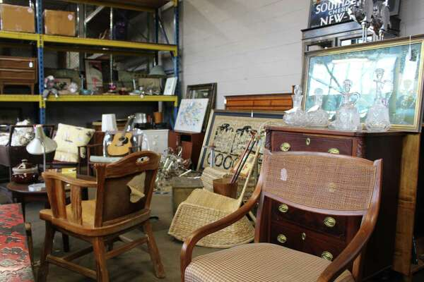 There are plenty of items to choose from at Mongers Market in Bridgeport as merchants sell their reclaimed and salvaged items at their rented market space.