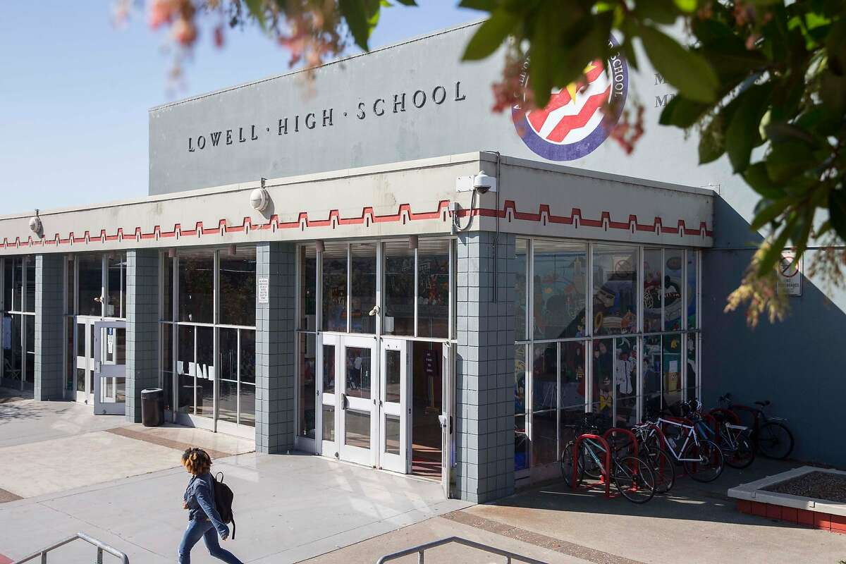 The exterior of Lowell High School in San Francisco, Calif. seen Friday, Sept. 21, 2018.