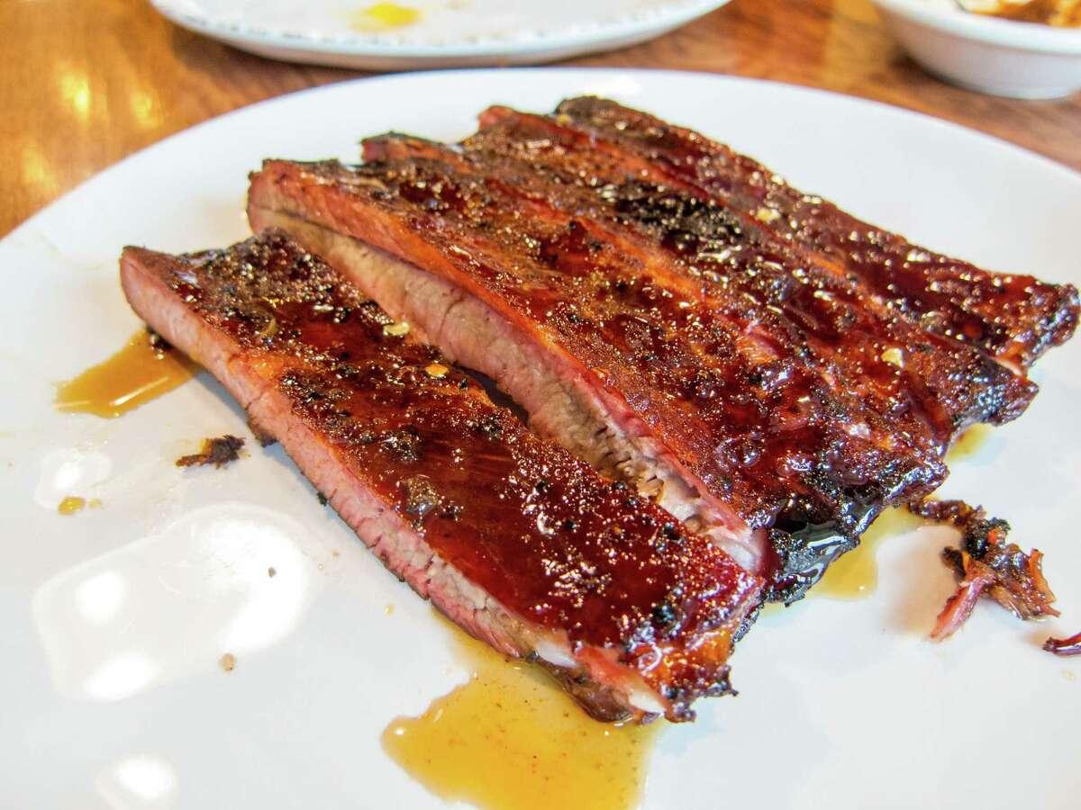 Glazed pork ribs at Gatlin's BBQ
