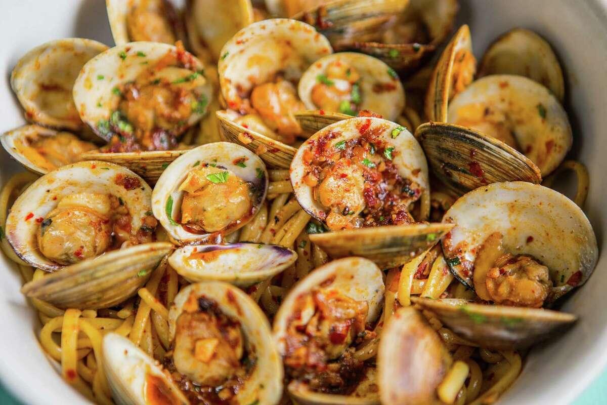 Linguine with fresh clams at Giacomo's Cibe e Vino