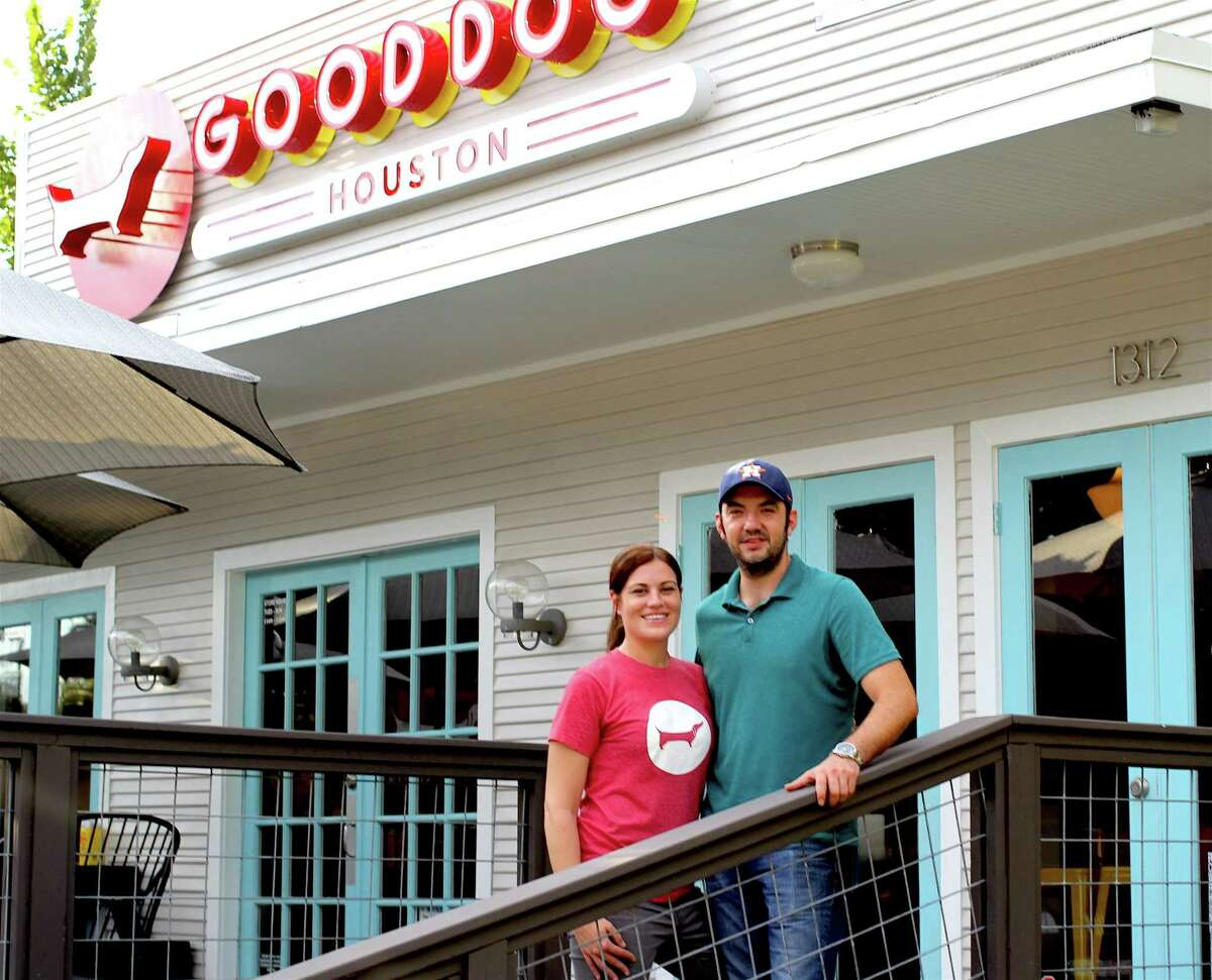 Co-owners Amalia Pferd and Daniel Caballero at Good Dog Houston in Montrose.