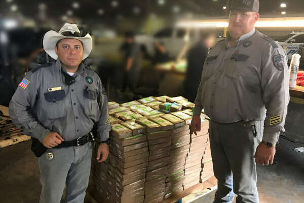 Two guards uncovered a large amount of cocaine in a shipment of donated bananas.