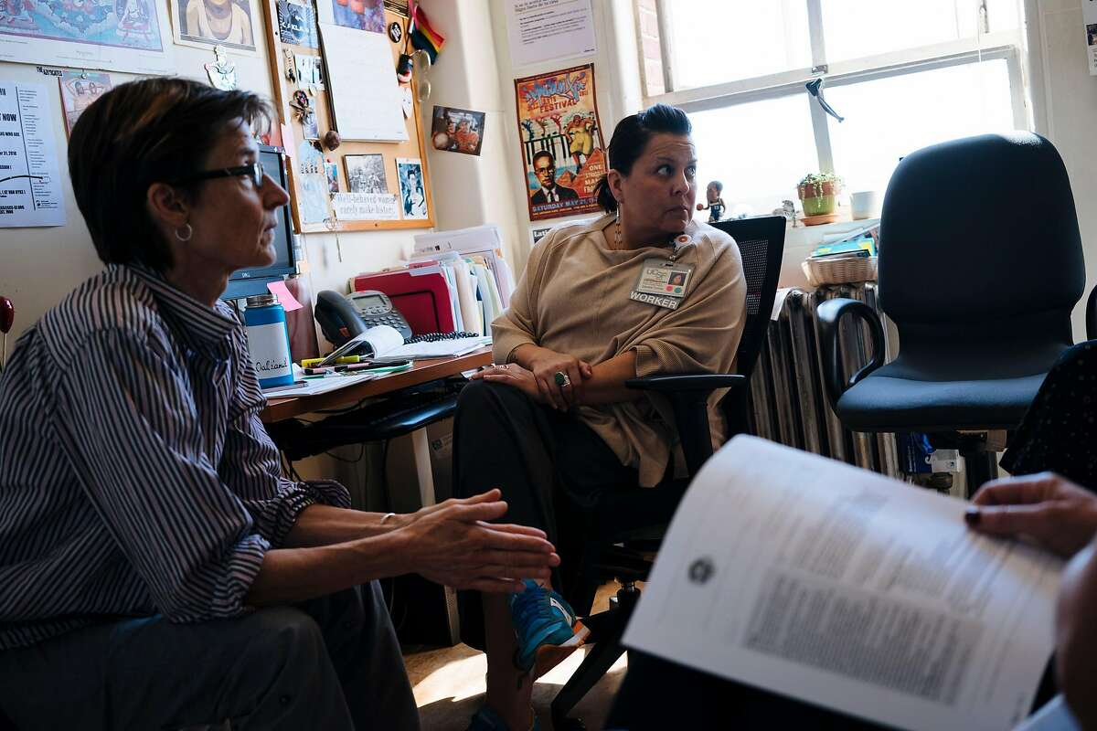San Francisco General Hospital's HIV/AIDS ward's RAPID Team gather for the weekly meetings in their office at the HIV Clinic Ward 86 at the San Francisco General Hospital in San Francisco, Calif., on Thursday, Sept. 20, 2018.