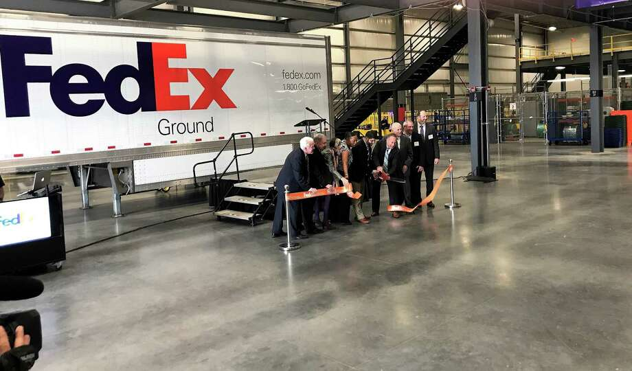 A ribbon cutting ceremony was held at the FedEx's new ground facility in Middletown. Photo: Jeff Mill / Hearst Connecticut Media