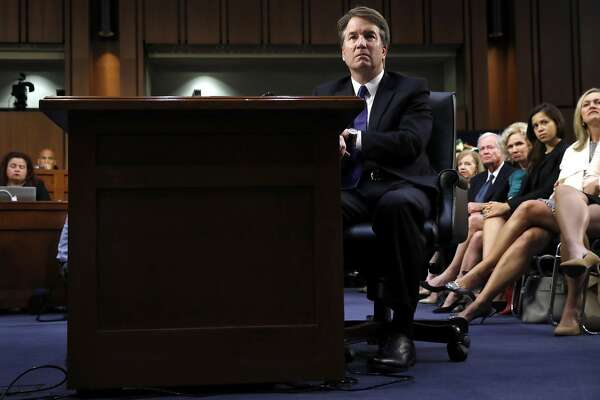 Supreme Court nominee Brett Kavanaugh listens to a opening statement from Sen. John Kennedy, R-La., during the Senate Judiciary Committee confirmation hearing on Capitol Hill, Tuesday, Sept. 4, 2018, in Washington, to replace retired Justice Anthony Kennedy. (AP Photo/Jacquelyn Martin)