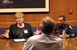 BART General Manager Grace Crunican and Chief of Police Carlos Rojas meet with San Francisco Chronicle Editorial Board in San Francisco, Calif. on Wednesday, August 15, 2018.