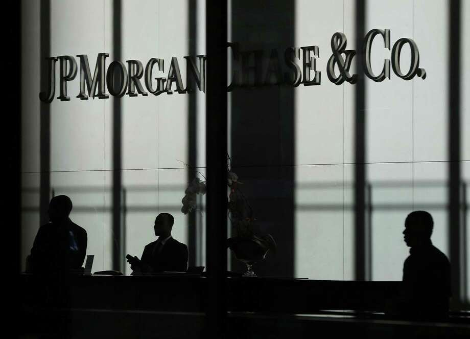 The JPMorgan Chase & Co. logo is displayed at their headquarters in New York on Oct. 21, 2013. Photo: Seth Wenig, STF / Associated Press / Copyright 2016 The Associated Press. All rights reserved. This material may not be published, broadcast, rewritten or redistribu