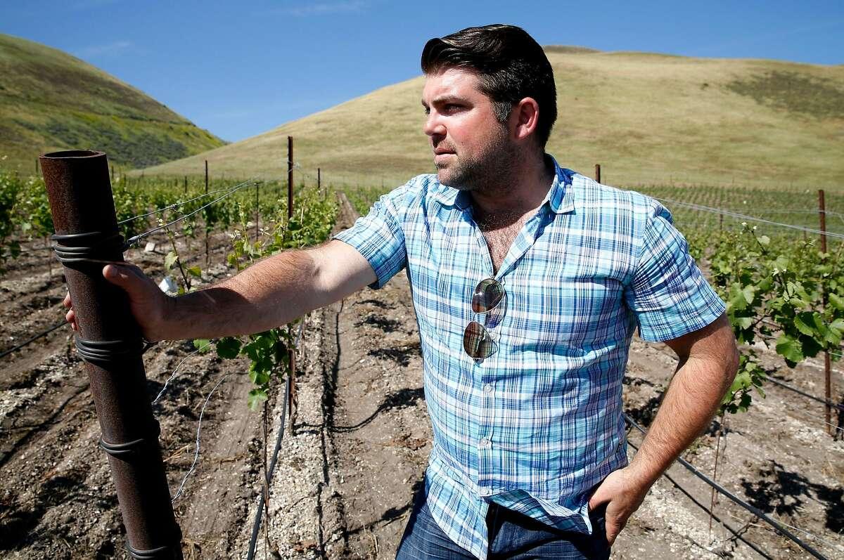 Joe Wagner looks over the Clark and Telephone vineyard in Santa Maria, California, on Monday, April 18, 2016.