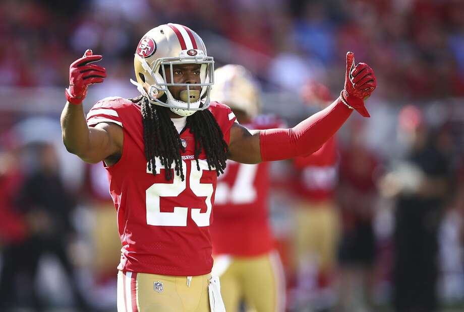 c06efb57bbe San Francisco 49ers defensive back Richard Sherman during the second half  of an NFL football game