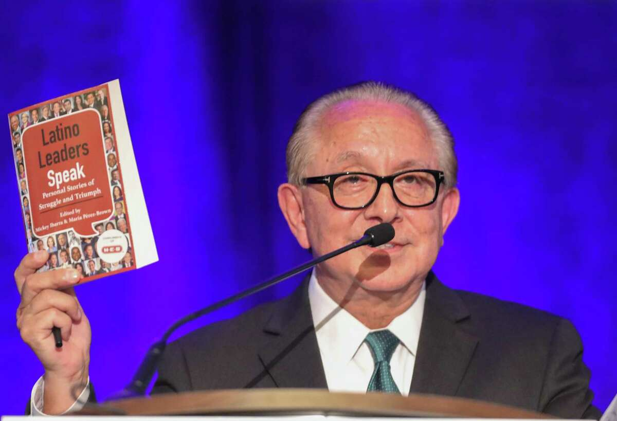The Hon. Mickey Ibarra talks during the 55th Latino Leaders Luncheon series Friday, Sept. 21, 2018, in Houston.