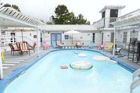 The pool at the Book Nook Inn bed and breakfast in Lumberton. The bed and breakfast has used Airbnb since they first opened. Photo taken Thursday 9/20/18 Ryan Pelham/The Enterprise