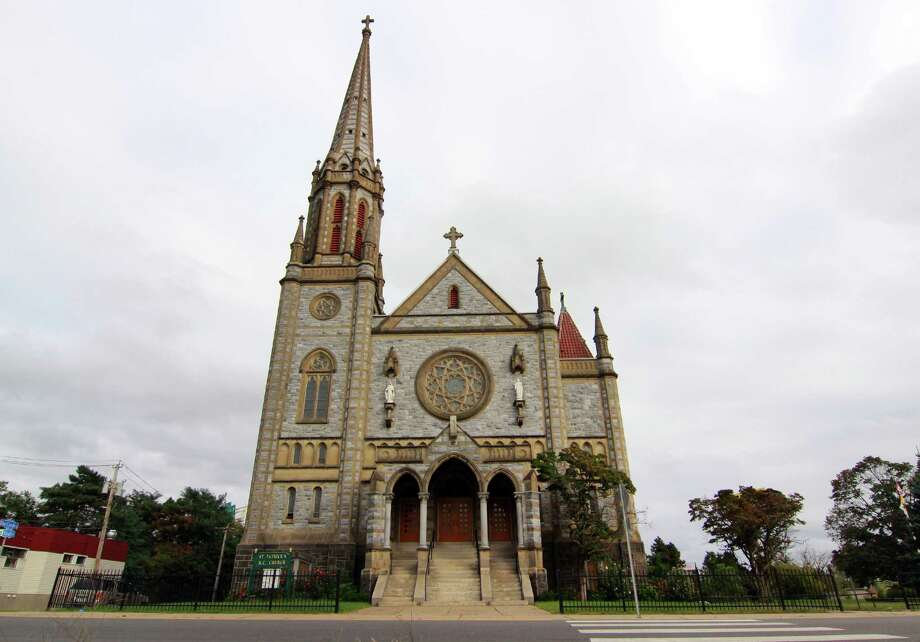 A view of St. Patrick's Roman Catholic Church on North Ave in Bridgeport, Conn. Photo: Christian Abraham, Hearst Connecticut Media / Connecticut Post
