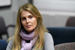 Catherine Oxenberg is interviewed at the Times Union on Monday, Nov. 6, 2017, in Colonie, N.Y. She is a critic of the Capital Region-based NXIVM organization, which her daughter is a member of.  (Will Waldron/Times Union)