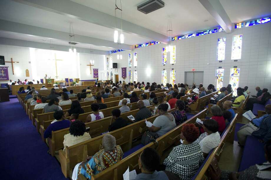 Bethel African Methodist Episcopal hosted a service in the nave of the church, months after an electrical fire caused the congregation to find a temporary home. Photographed in Stamford, Conn. on Sunday, Sept. 16, 2018. Photo: Michael Cummo / Hearst Connecticut Media / Stamford Advocate