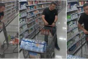 Laredo police said this man is wanted for allegedly making unauthorized purchases with a stolen Mastercard gift card.