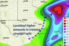 The Houston area will likely receive 1 to 2 inches of rain, meteorologists said