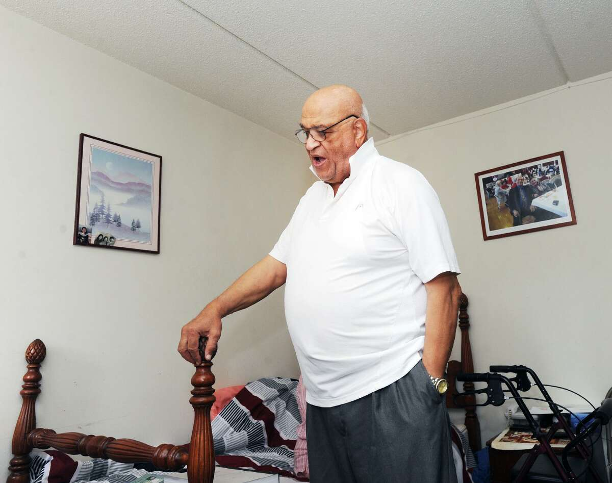 Aziz Elsoudani, a former professor of public finance at Alexandria University's College of Commerce in Eqypt, at his home in the Agnes Morley Heights public housing complex in Greenwich, Conn., Thursday, Sept. 20, 2018.