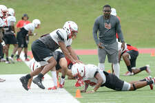 Lamar Cardinals run drills during practice on Tuesday, August 28, 2018 Kim Brent/The Enterprise