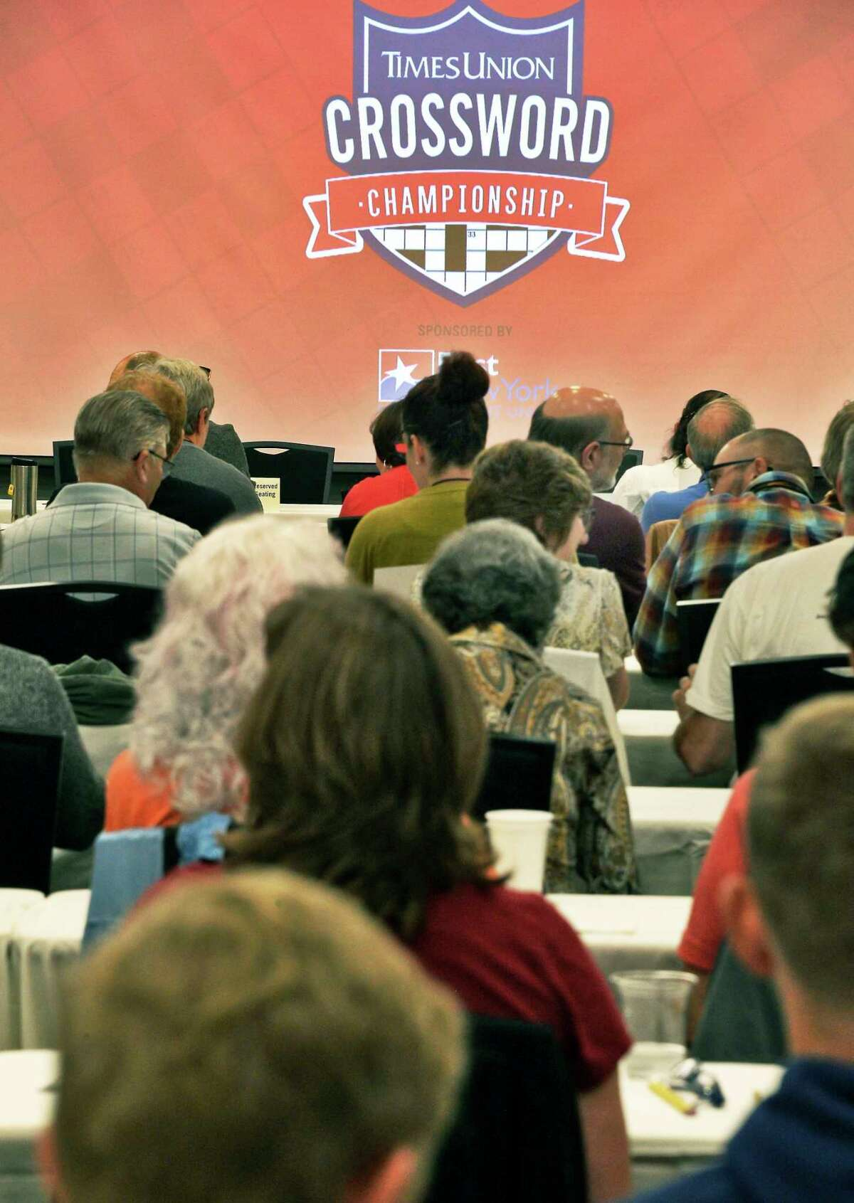 The Times Union hosts the inaugural Upstate Crossword Championship tournament Saturday Sept. 22, 2018 in Colonie, NY. (John Carl D'Annibale/Times Union)