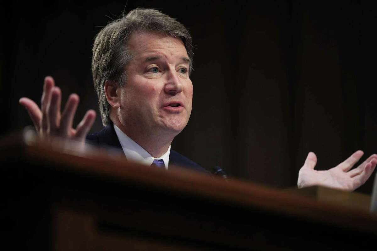 In this Sept. 5, file photo, Supreme Court nominee Brett Kavanaugh testifies before the Senate Judiciary Committee on Capitol Hill in Washington.
