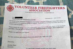 The fire department provided a letter similar to the one that some Monroe, Conn., residents have reported receiving.