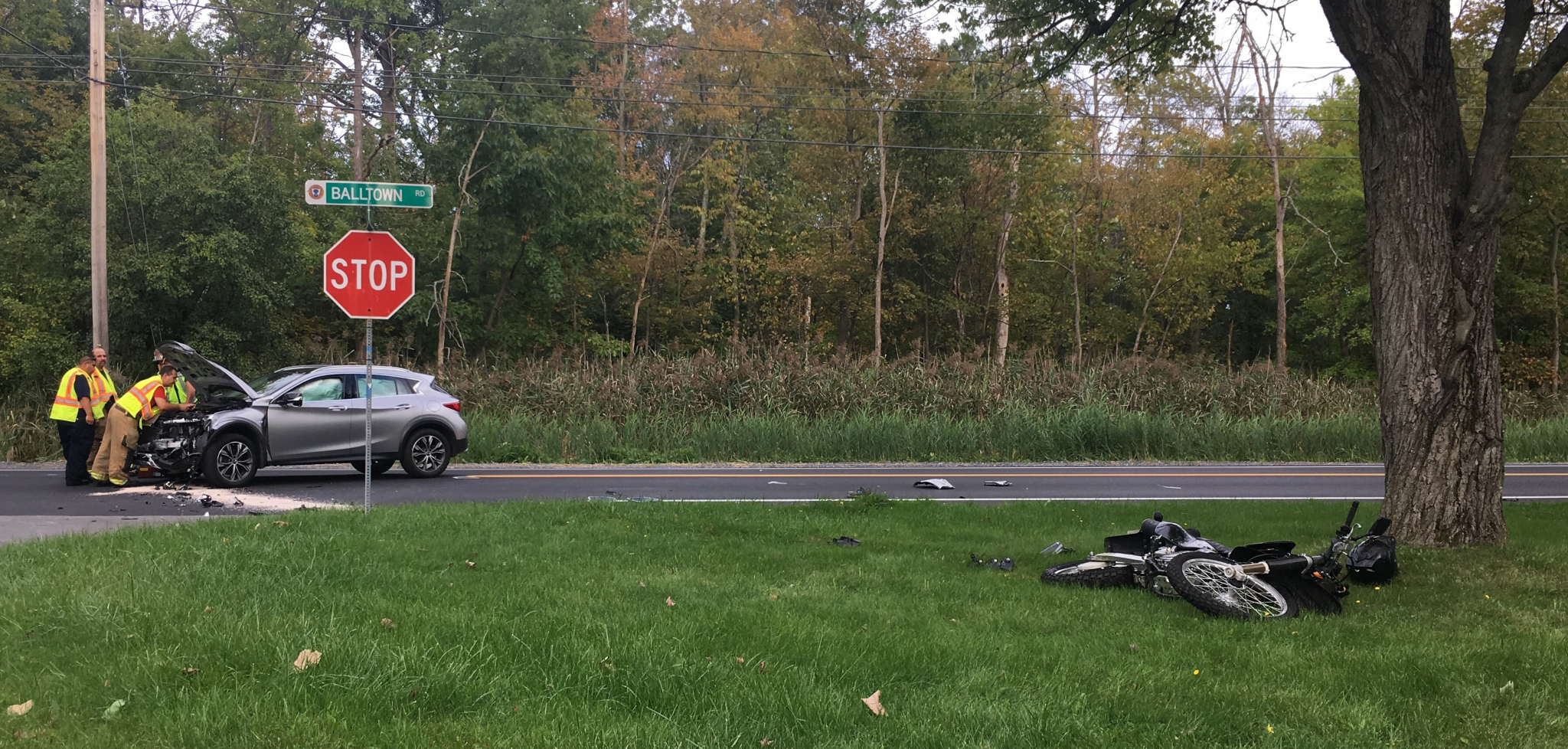 Motorcyclist injured in collision with SUV on Balltown Road - Times Union