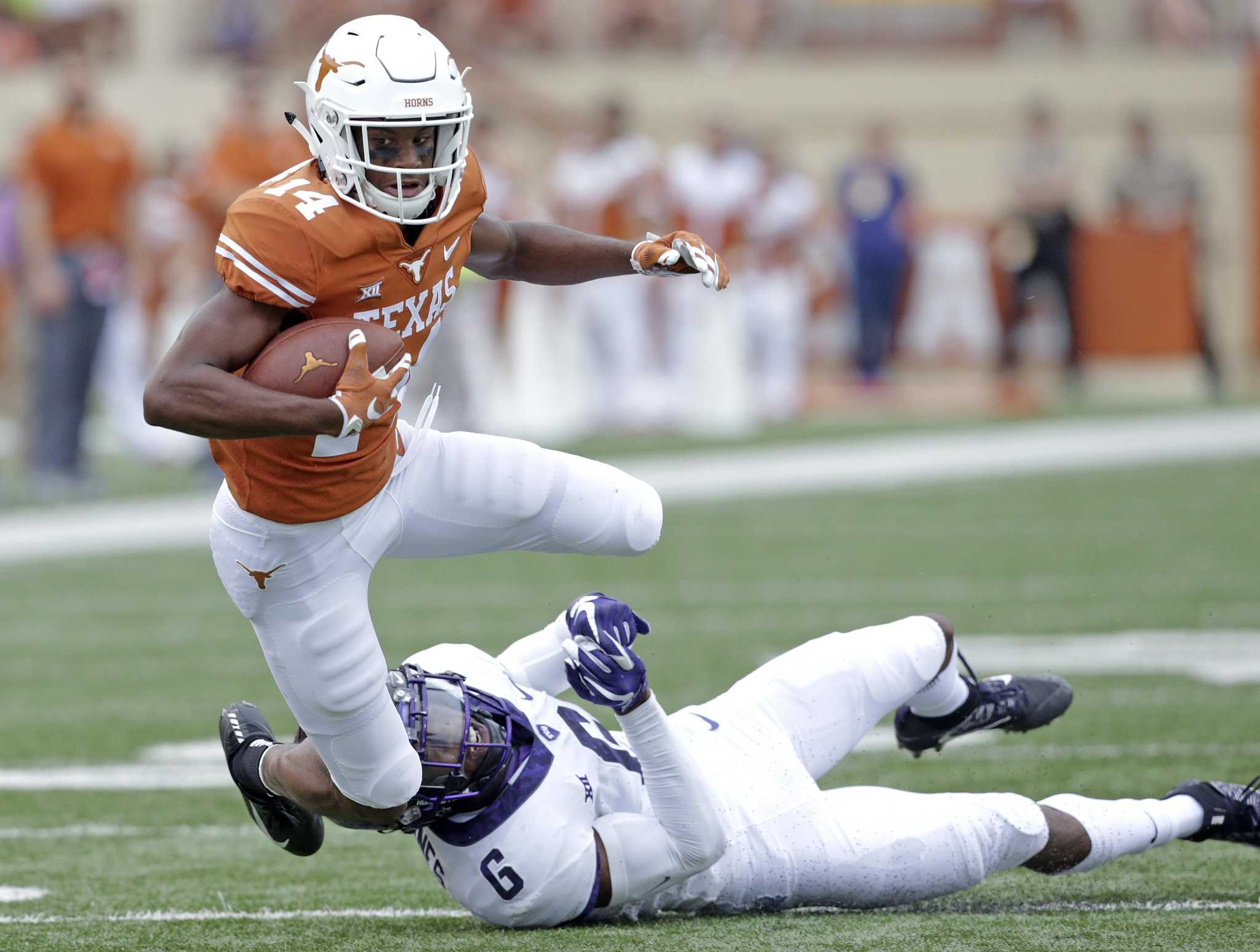 Tom Herman: 'No decision' yet made on Texas WR Josh Moore following weapon charge