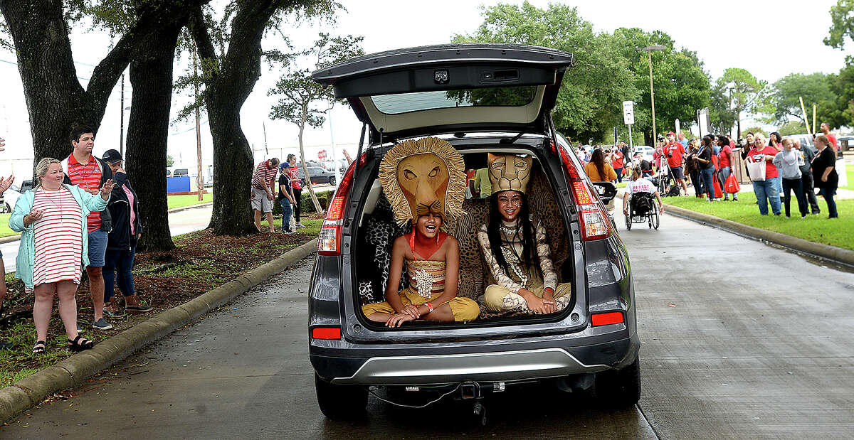 The annual Lamar University Homecoming parade makes its way up Lavaca Street, kicking off a day of pre-game festivities for students, alumni and fans. Saturday, September 22, 2018 Kim Brent/The Enterprise