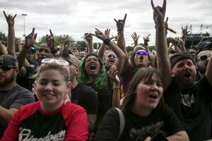 Fans cheer as Living Colour performs on the Bud Light Stage at the River City Rockfest held at AT&T Center, Sept. 22, 2018.