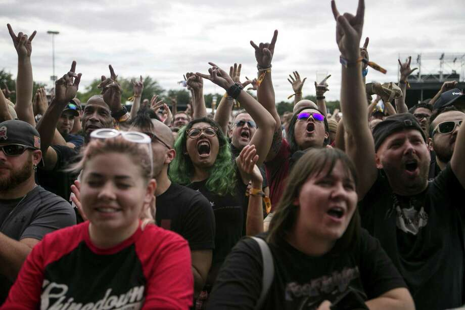 Fans cheer Living Colour at the 2018 River City Rockfest. The festival will take place over two days this year. Photo: Josie Norris /San Antonio Express-News / © San Antonio Express-News
