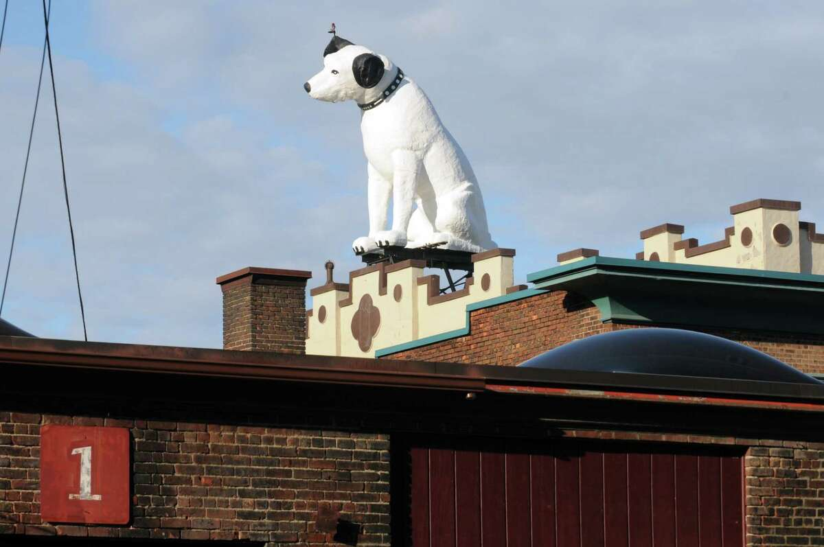 Nipper the RCA Dog on Wednesday April 29, 2015 in Albany, N.Y. (Michael P. Farrell/Times Union)