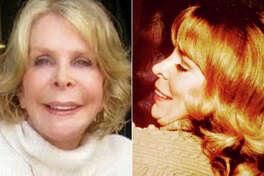 (L-r) Kristina Ruehli in 2015 and in 1973.