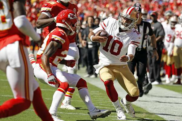 c4d434fda 1of3449ers quarterback Jimmy Garoppolo injured his knee on this play in the  fourth quarter Sunday against the Chiefs. The 49ers fear he may have torn  his ...