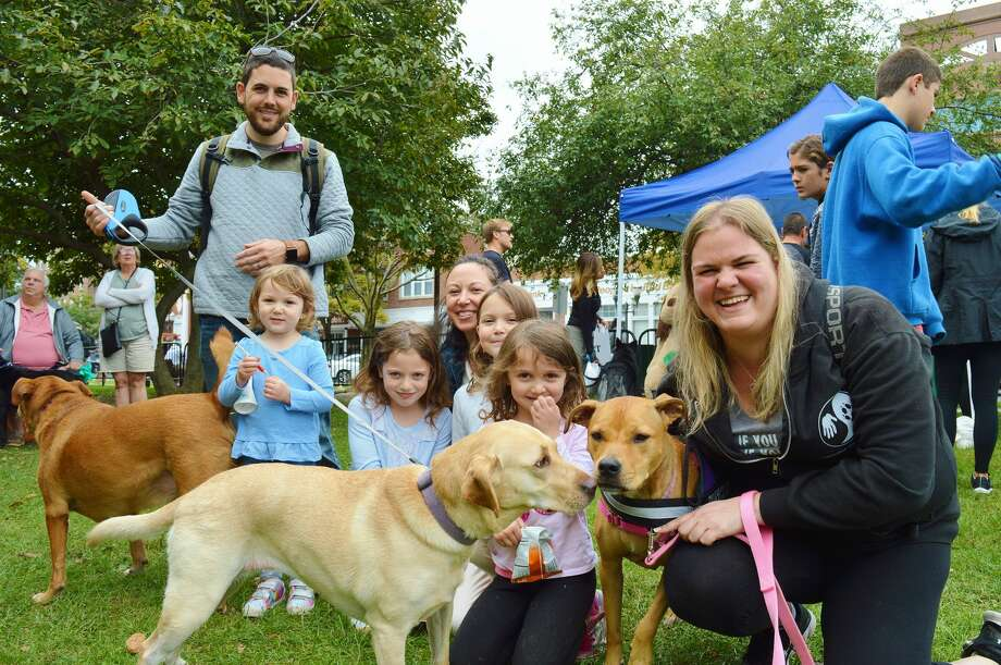 Bark in the Park took place at Latham Park in Stamford on September 23, 2018. Pets and their owners enjoyed demonstrations, vendors, a blessing of the animals, costumer contest and more. Were you SEEN? Photo: Todd Tracy / Hearst Media