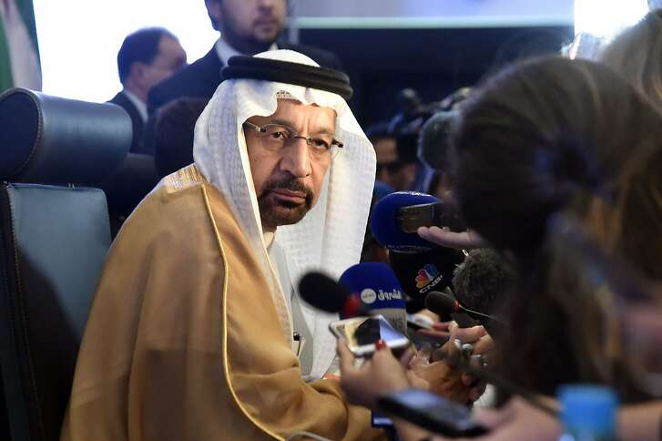 Khalid Al-Falih, Saudi Energy and Oil Minister and Chairman of OPEC's Joint Ministerial Monitoring Committee (JMMC), speaks to journalists during the 10th JMMC meeting in Algiers on September 23, 2018. (Photo by Ryad KRAMDI / AFP)RYAD KRAMDI/AFP/Getty Images