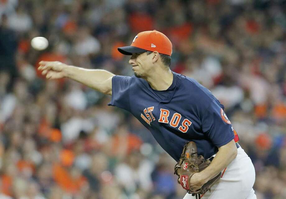 Charlie Morton (50) of the Houston Astros pitches against the Los Angeles Angels at Minute Maid Park on September 23, 2018 in Houston, Texas. Photo: Chris Covatta, Stringer / Getty Images / 2018 Getty Images