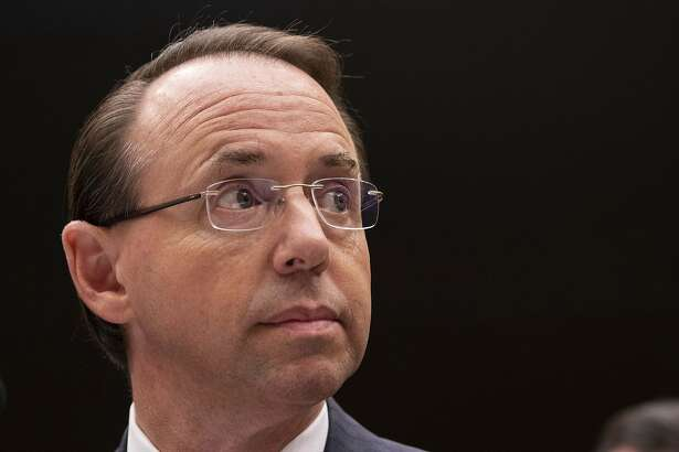 United States Deputy Attorney General Rod Rosenstein listens during a United States House of Representatives Judiciary Committee hearing on Capitol Hill on June 28, 2018 in Washington, D.C. (Alex Edelman/CNP/Zuma Press/TNS)