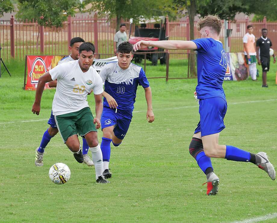 Jose Echavarria and the Palominos lost 2-1 to the Northeast Texas Eagles Saturday in the Region XIV Final match. Echavarria was the player who scored for Laredo College. Photo: Cuate Santos /Laredo Morning Times File
