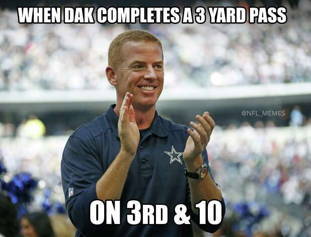 Dallas Cowboys Week 3: Seahawks 24, Cowboys 13 Dak Prescott and the Cowboys offense looked putrid with the quarterback throwing for just 168 yards along with 2 interceptions. Photo: Facebook NFL Memes