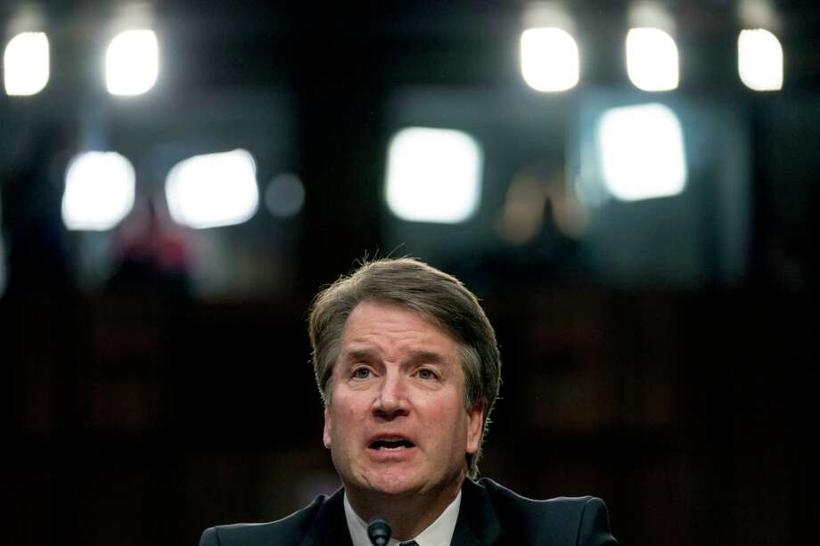FILE - In this Sept. 4, 2018, file photo, President Donald Trump's Supreme Court nominee, Brett Kavanaugh, a federal appeals court judge, speaks before the Senate Judiciary Committee on Capitol Hill in Washington. (AP Photo/Andrew Harnik, File) Photo: Andrew Harnik / Copyright 2018 The Associated Press. All rights reserved
