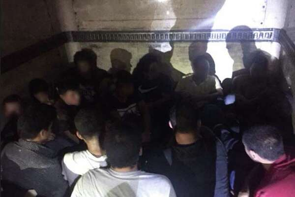 Fifteen undocumented immigrants were discovered in a box truck at Border Patrol's checkpoint on Interstate 35. They were determined to be from Mexico, Guatemala, El Salvador, Honduras and Brazil.