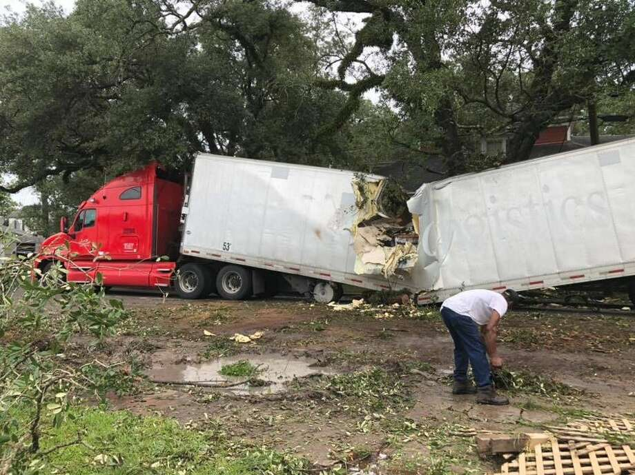 A tree and 18-wheeler crash on Easy and Irma Sunday, 9/23