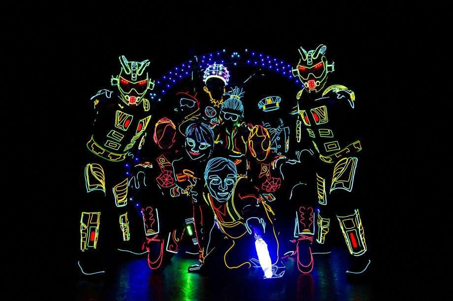 Technology and dance merge during iLuminate, a live glow-in-the-dark dance performance that will start at 6 p.m. Sunday, Sept. 30 at Midland Center for the Arts. Photo: Photo Provided