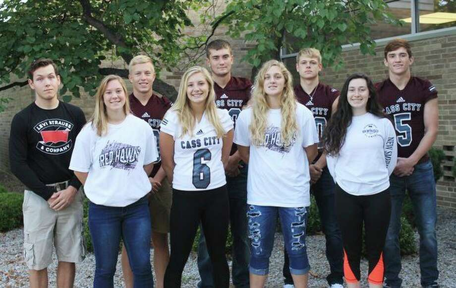 This year's king and queen homecoming candidates include (front row from left): Brittany Hamilton, Kacey Haire, Jalene Kroland Kelly Ziegler; (Back row) Zachary Brunke, Dylan Crase, Zackry Beecher, Jarod Naegele and Lucas Stern. Not pictured is DeeDee Haley. (Submitted Photo)