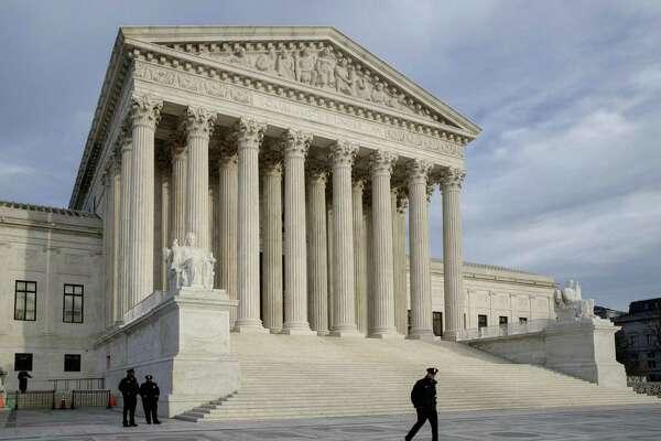 In this file photo taken Feb. 14, 2017, the Supreme Court in Washington. (AP Photo/J. Scott Applewhite)