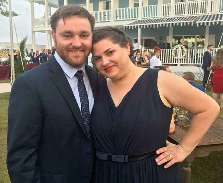 William Wilson, a former Norwalk resident, and Elizabeth Minei, who are engaged to be married in November, have been going to Chowdafest, one of the area's largest food competition festivals, every year since they first started dating in 2014. They plan on attending this year's event, planned for Sept. 30, 2018, at Sherwood Island State Park, in Westport, where tens of thousands are expected. Photo: Contributed Photo / Connecticut Post contributed